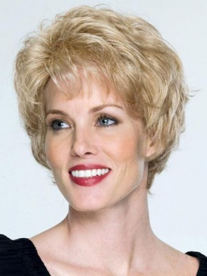 Capless Short Waves Remy Human Hair Wig