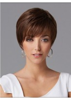 Flipped Short Straight Human Hair Wig