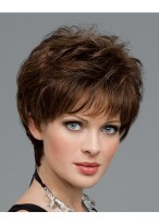 Fashionable Human Hair Wavy Capless Wig