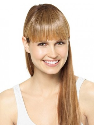 Flattering Blonde Remy Hair Clip In Fringes