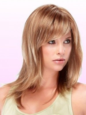 Morden Mid-Length Capless Synthetic Wig