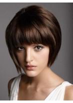 Short Straight Capless Remy Human Hair Wig