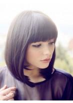 Cute Straight Remy Human Hair Capless Wig