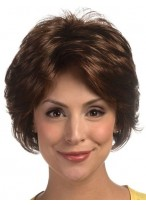 Cool Feathery Layered Short Synthetic Style Lace Wig