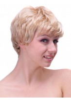 Cute Short Wavy Capless Synthetic Wig